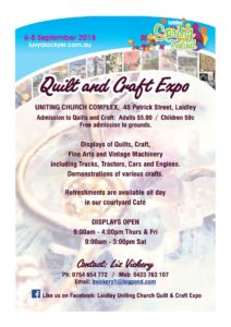 Quilt and Craft Expo @ Laidley UC | Laidley | Queensland | Australia