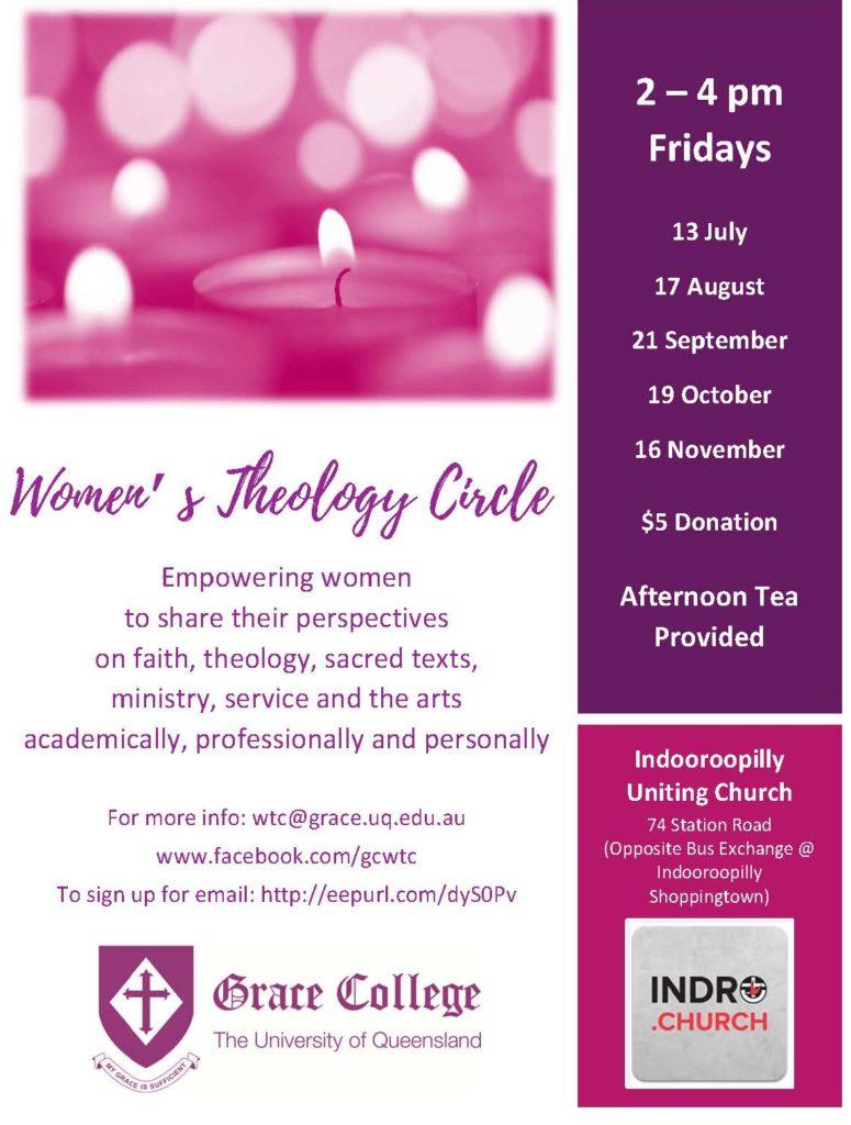 Women's Theology Circle meeting @ Indooroopilly UC | Indooroopilly | Queensland | Australia